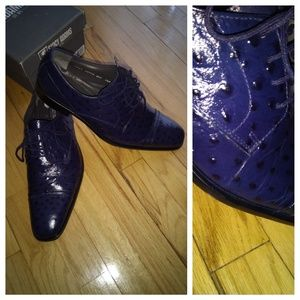 "Stacy Adams ""amori blue"" leather shoe"